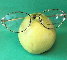 New 2-Tone SARA MONALLI Vintage Eyeglasses Tortoise Rim Elegant Design Free Case