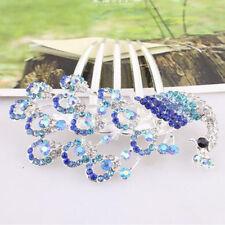 Women Full Crystal Headwear Rhinestone Fashion Hair Clip Hair Comb Hairpin