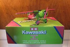 KAWASAKI ☆ 1932 Lockheed Vega Die-Cast Model 5B ☆ Airplane Bank ☆ NEW IN BOX NIB