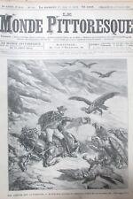 Le Monde Malerisches Nr. 147 von 1885 Geschichte Voyage Cordillera Andes Geier