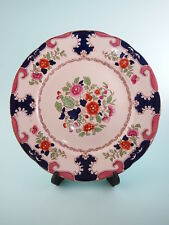 "Antique Booth's Silicon China Hand Painted Regal Pattern 9.25"" Dessert Plates"