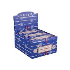 12 x Genuine Original Satya Incense Nag Champa Classic Dhoop Sticks Full Box