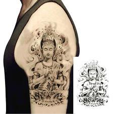Large Despot Lord Buddha Temporary Tattoos Body Art Half Arm Fake Tatoo Men Tats