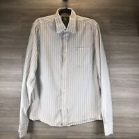 Hollister Men's size X-Large long sleeve striped button down dress shirt