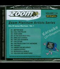 Zoom Karaoke Platinum Artists CDG Vol 116 ZPA116 Hits of James Morrison