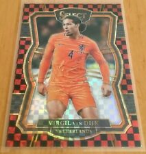 2017-18 Panini Select - Base - Checkerboard #128 - Virgil van Dijk - Rookie - SP