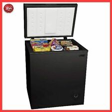 5.0 cu ft Chest Deep Freezer Upright Compact Dorm Apartment Home Black NEW