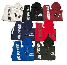 Nike Sweat Suit Men's Complete Set Full Zip Hoodie & Joggers Fleece Sweatsuit