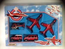 Matchbox MC-24 Red Arrows set with planes Cars And Helicopter.