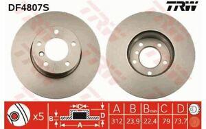 2x TRW Disques de Frein Avant Ventilé 312mm pour BMW Série 3 X1 DF4807S