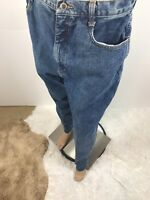 Bill Blass Blue Denim Straight Leg Medium Wash Cotton Womens Jeans Size 16