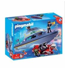 Playmobil 4429 - Police Boat Playset Includes 3 Playmobil Figures