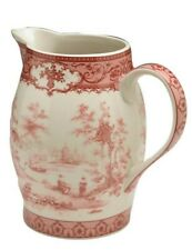 Victorian Trading Co Staffordshire Pitcher Red Transferware