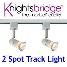 Knightsbridge 2 Point éclairage sur rail Simple Circuit lumière LED 1 Mètre 1m