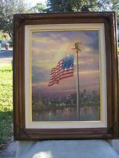 Thomas Kinkade FRAMED A/P LIGHT OF FREEDOM  Canvas   New