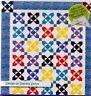 "Flower Song - pieced quilt PATTERN for 2.5"" strips - Cozy Quilts - 6 sizes"