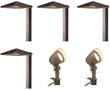 Low Voltage LED Bronze Outdoor Path Light Kit Garden Patio Walkway Flood 6 Pack