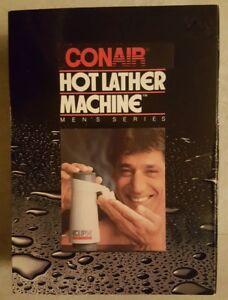 Joe Namath Conair Hot Lather Machine - NEW IN BOX SEALED + Refill + Moisturizer