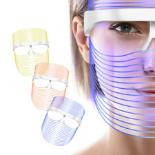 3 Color LED Light Photon Face Neck Mask Rejuvenation Skin Facial Therapy Wrinkle