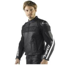 NEW DAINESE G. ALIEN PELLE LEATHER MOTORCYCLE JACKET BLACK ADULT SIZE 56