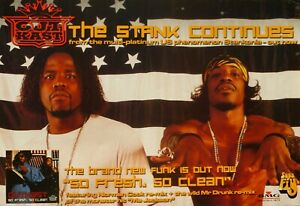 """OUTKAST """"STANKONIA-THE STANK CONTINUES,SO FRESH,SO CLEAN"""" AUSTRALIA PROMO POSTER"""