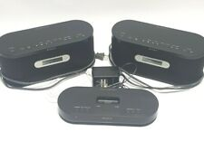 Sony AIR-SA15TI and Two SA15R Wireless Speaker Receiver Ipod Dock & AM/FM Radio