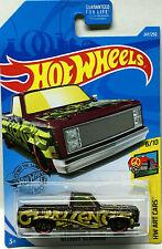 Hot Wheels 2019 Hw Arte Coches '83 Chevy Silverado (Burdeos) #247