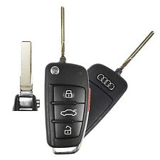 Used Audi OEM Flip Key Keyless Remote Fob 4 Button IYZ 3314 4F0837220N