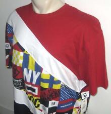 NEW 3X ROCAWEAR MENS T SHIRT Tee Red White Flags Short Sleeve 3XB 3XL XXXL