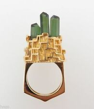 Tourmaline Cluster Natural Fine Rings