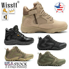 Men's Army Military Combat Boots Jungle Lace Up Ankle Hiking Tactical Work Shoes
