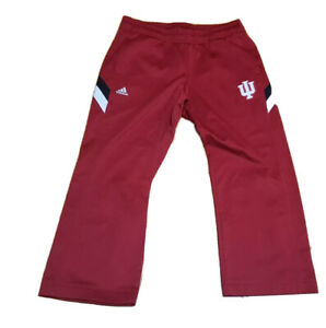 INDIANA HOOSIERS ADIDAS Mens Polyester Pants red size 44 w/ 26 inseam new!!