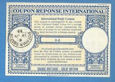 1956 GREAT BRITAIN INTERNATIONAL REPLY COUPON 9 d SYDENHAM 1016