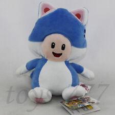 Super Mario Bros. Character 7'' Cat Blue Mushroom Toad Stuffed Animal Plush Toy
