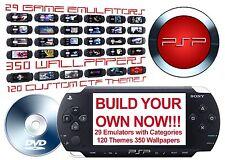 MOD YOUR OWN PSP 3000 2000 1000 Custom Firmware 29 Emulators w/Game Categories
