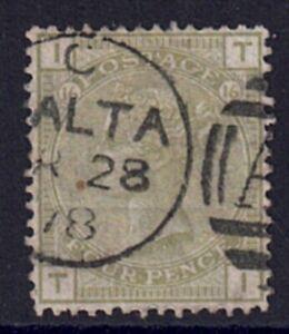 QV 1873-80 SG153 4d Sage-Green Plate 16 Upright Malta CDS Fine used