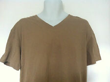 Polo Ralph Lauren Sleepwear T-Shirt~Beige/Blue Logo~VNeck~100% Cotton~Size L~NWT