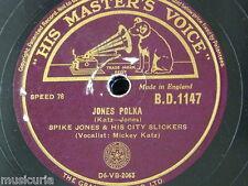 78 tr/min Spike Jones-Mickey katz Jones polka/Carl Grayson CETTE VIEILLE magie noire