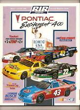 1996 Pontiac 400 Program Jeff Gordon Win #11