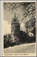 ROSTOCK Seestadt alte Postkarte um 1940 Kröpeliner Tor vom Wall aus gesehen