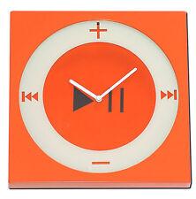 Wanduhr Mp3 Player iPod Nano Design Orange/Weiß Wand Uhr Uhren Kunststoff Analog