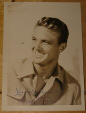 ROBERT STACK HAND SIGNED 1940s STILL PHOTO AUTOGRAPH UNTOUCHABLES 1941 AIRPLANE