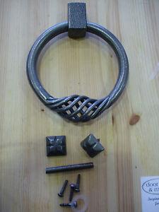 Dartington Steel Brionne  Ring Door Knocker 17-12007 in Patine