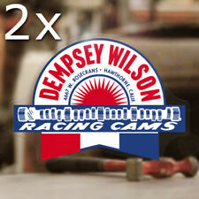2x Stück Dempsey Wilson Cams Aufkleber Sticker Holy Garage Hot Rod Old School
