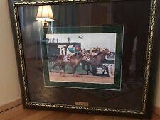 KENTUCKY DERBY CHURCHHILL DOWNS SILVER CHARM 1997 HORSE RACE WINNER FRAMED