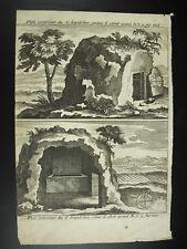 Extérieur du Saint-Sépulcre le tombeau du Christ c1700 gravure XVIIe/XVIII print
