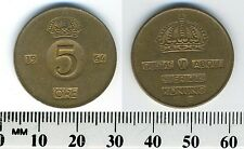 Sweden 1964 - 5 Ore Bronze Coin - King Gustaf VI Adolf