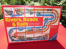 Rivers, Roads, & Rails Matching Game Ravensburger 100% COMPLETE NICE CONDITION!