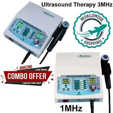 New Combo Ultrasound Therapy 1mhz Amp 3mhz Unit Massager Us Machine For Home Use