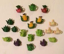 Vtg(20) Dollhouse Miniature Vegetable Garden Whimsical Fairy Food Teapot Sets